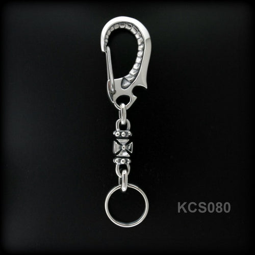Spring Clip with Cross Link Key Chain