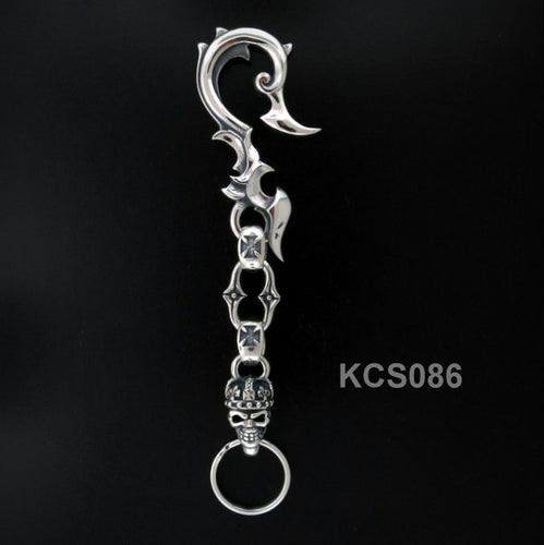 Scroll Hook - Saw link w/ King Skull Key Chain