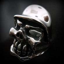Helmet Chomps Skull Ring
