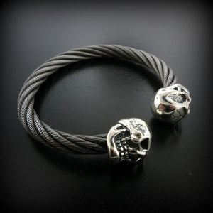 Skull Cable Bangle