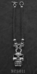 Chomps with 2 Speed Skulls with Braided Leather Necklace