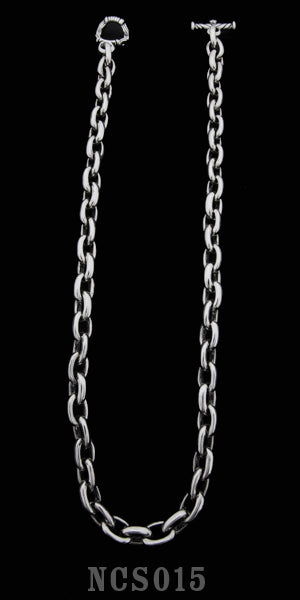 Smooth Link Necklace with Toggle - 20 inch