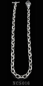 Smooth Link Necklace with Speed Toggle - 20 inch