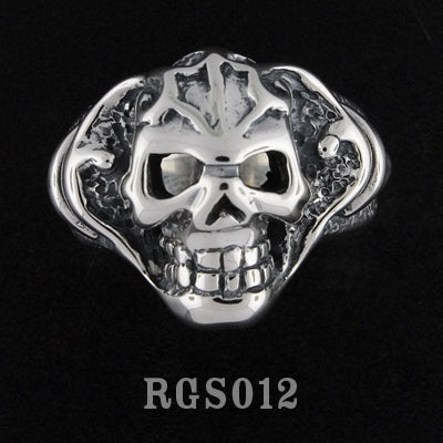 Tribal Skull Ring RGS012
