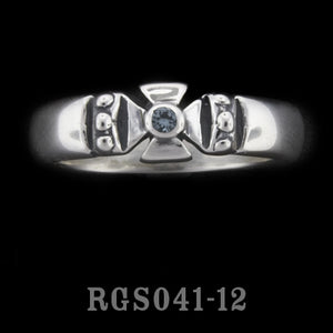 Single Formee Ring with Blue Zircon RGS041-12