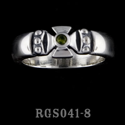Single Formee Ring with Peridot RGS041-08