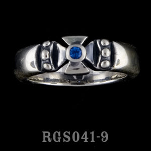 Single Formee Ring with Blue Sapphire RGS041-09