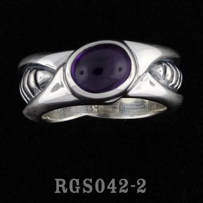 Bio Ring with Amethyst RGS042-02