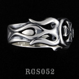 Flamed Cross Ring RGS052