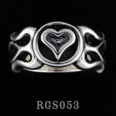 Flamed Heart Ring RGS053