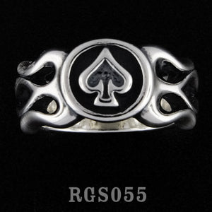 Flamed Spade Ring RGS055