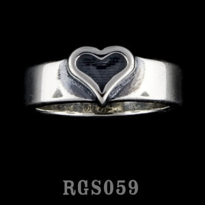 Heart Band Ring RGS059