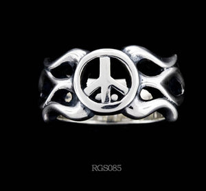 Flamed Peace Ring RGS085