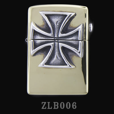 Brass Zippo Lighter with Red Baron