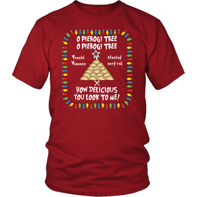 Slovak Pierogi Tree Unisex Shirt Holiday Clothing