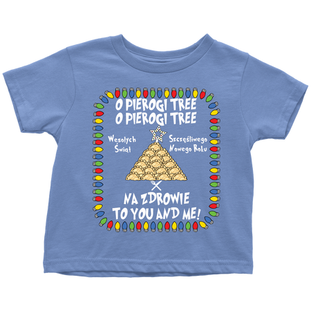 Polish Pierogi Tree Holiday Toddler T-Shirt
