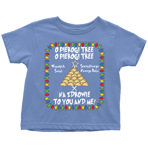 Na Zdrowie Pierogi Tree Holiday Toddler Shirt Holiday Clothing