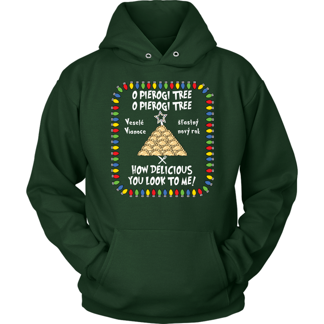 Slovak Pierogi Tree Unisex Hoodie Holiday Clothing