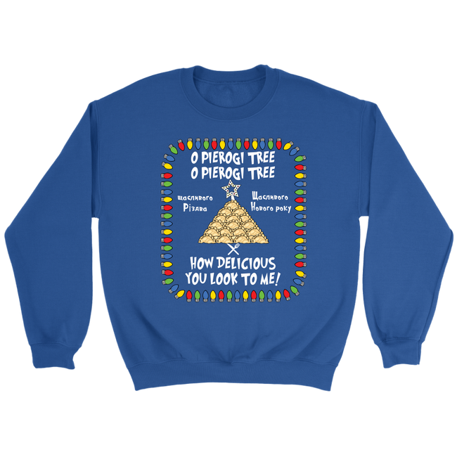 Ukrainian Pierogi Tree Ugly Christmas Sweatshirt Holiday Clothing