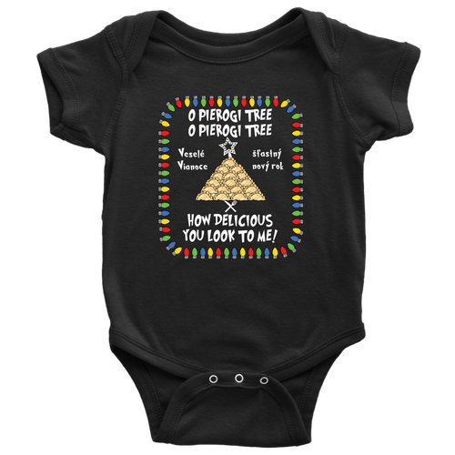 Slovak Pierogi Tree Baby Onesie Holiday Clothing