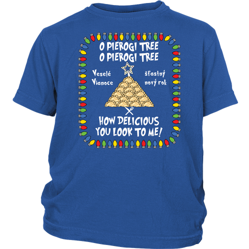Slovak Pierogi Tree Youth Shirt Holiday Clothing