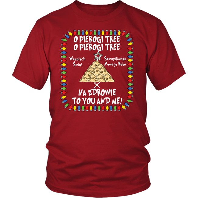 Na zdrowie Pierogi Tree Ugly Funny Holiday Unisex Shirt Holiday Clothing