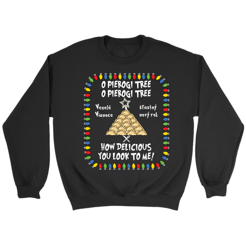 Slovak Pierogi Tree Crewneck Sweatshirt Holiday Clothing