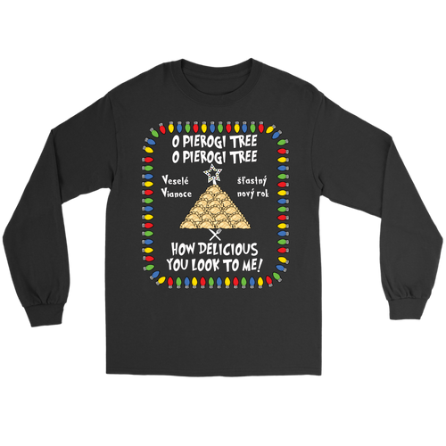 Slovak Pierogi Tree Gildan Long Sleeve Tee Holiday Clothing