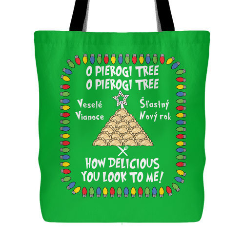 Slovak Pierogi Tree Holiday Tote Bag Holiday Clothing