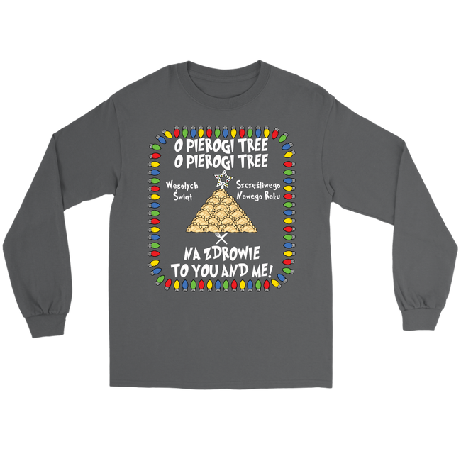 Na Zdrowie Pierogi Tree Gildan Long Sleeve Holiday Clothing