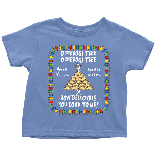 Slovak Pierogi Tree Toddler Christmas Shirt Holiday Clothing