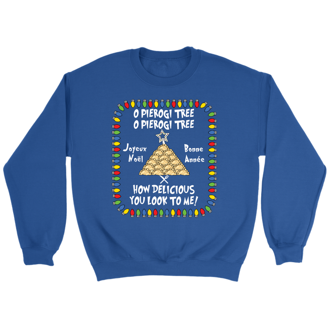 French Pierogi Tree Christmas Holiday Sweatshirt Holiday Clothing