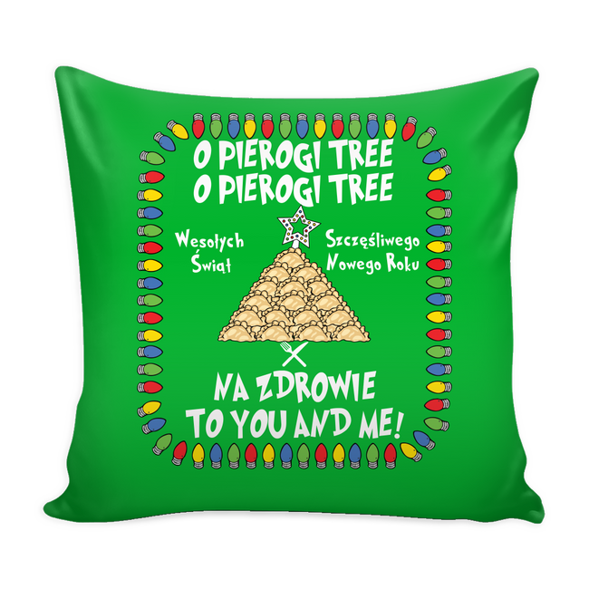 Na Zdrowie Pierogi Festive Polish Pillow Cover Holiday Clothing