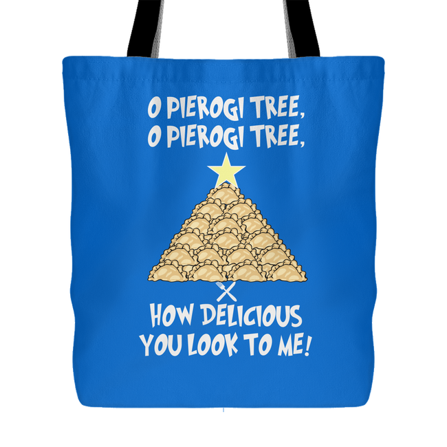 Original Pierogi Tree Holiday Tote Bag Holiday Clothing