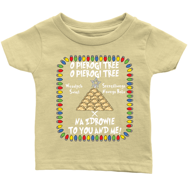 Na Zdrowie Pierogi Tree Holiday Infant T-Shirt Holiday Clothing