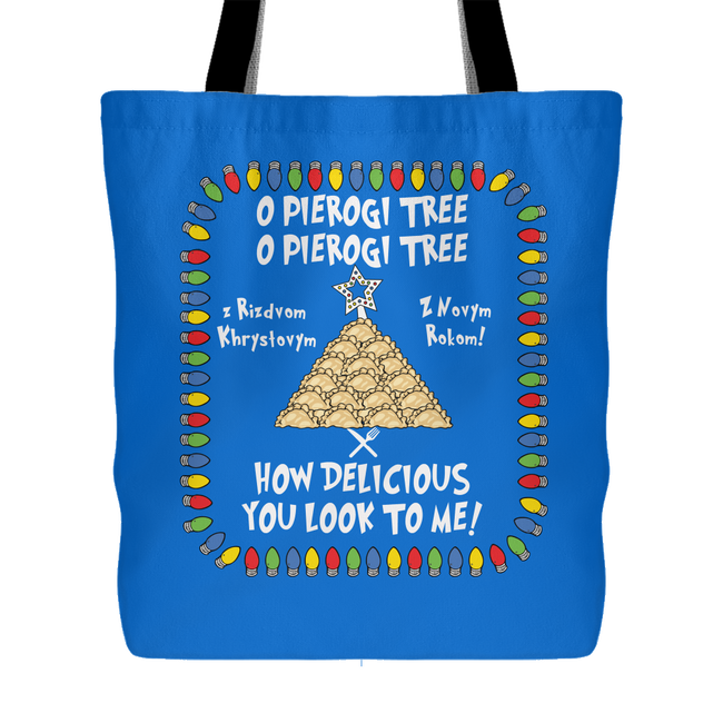 Ukrainian Pierogi Tree Christmas Holiday Tote Bag Holiday Clothing