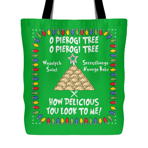 Polish Pierogi Tree Holiday Tote Bag Holiday Clothing