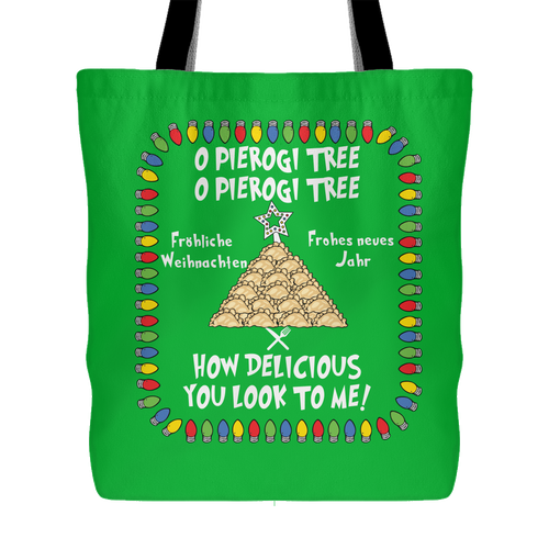 German Pierogi Tree Holiday Tote Bag Holiday Clothing
