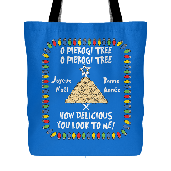 French Pierogi Tree Holiday Tote Bag Holiday Clothing
