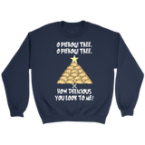 Original Pierogi Tree Crewneck Sweatshirt Holiday Clothing