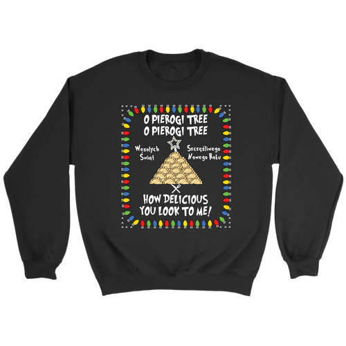 Polish Pierogi Tree Ugly Christmas Sweatshirt Holiday Clothing
