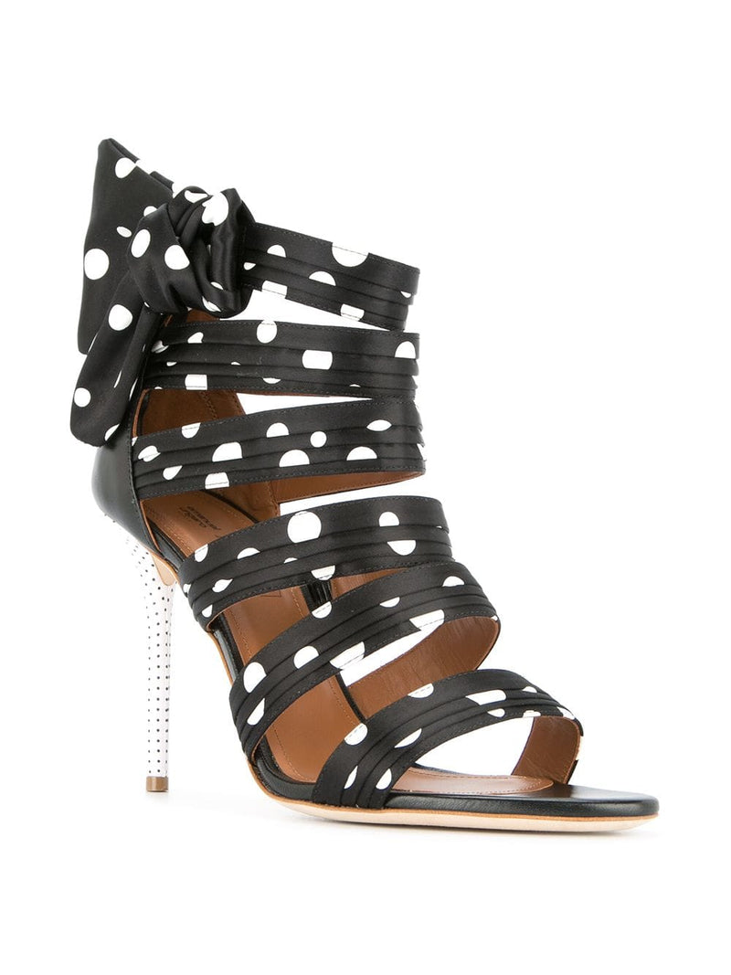 Malone Souliers Polka Dot Strapped Heel