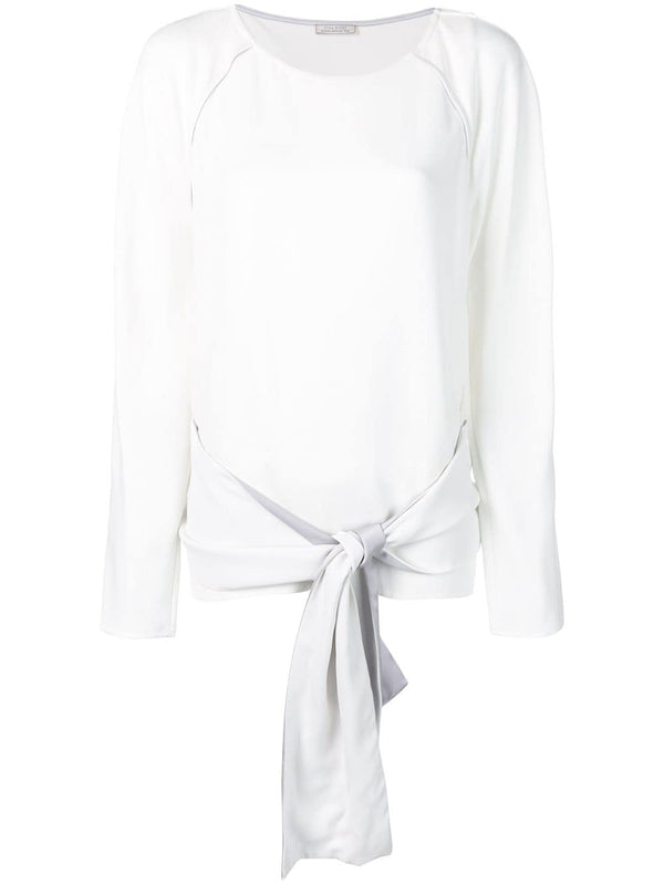 Nina Ricci Long Sleeve Belted Cady Top