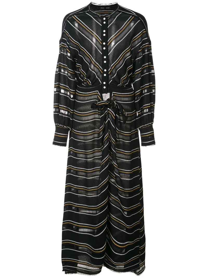 Proenza Schouler Long Sleeve Float Stripe Dress