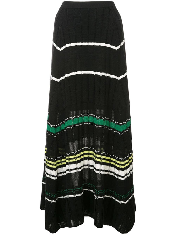 Proenza Schouler striped A-Line Knit Skirt