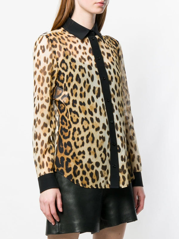 Moschino Leopard Print Blouse