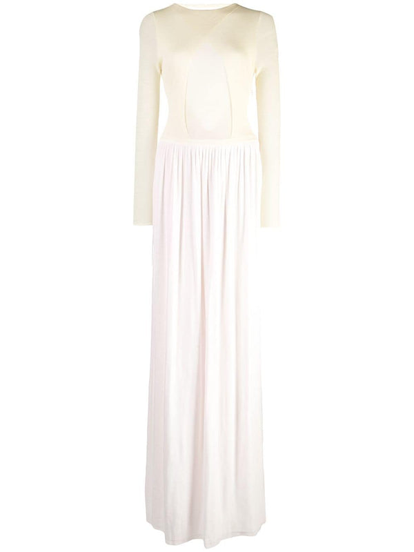 Esteban Cortazar Layered Belted Gown