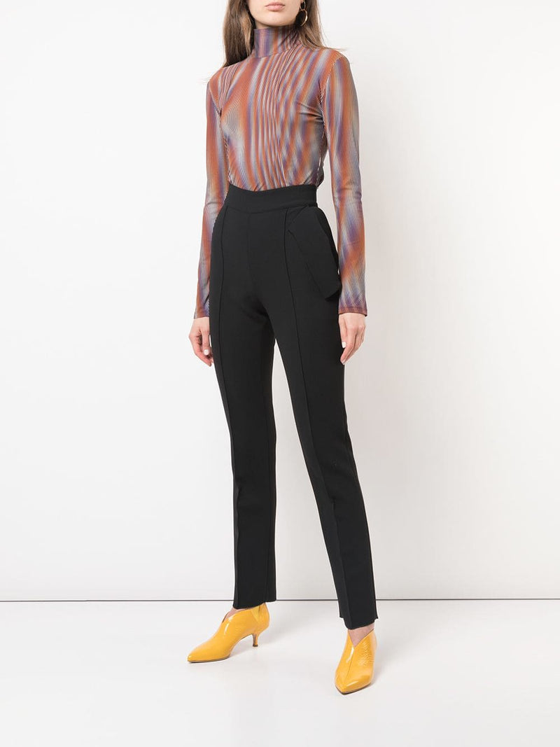 Mugler Printed Jersey Turtleneck