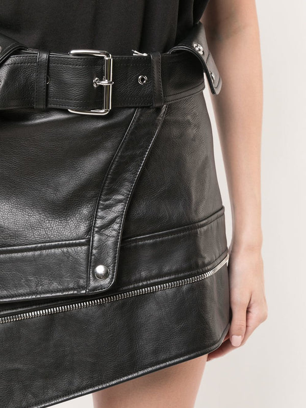 Alexander Wang Deconstructed Moto Skirt