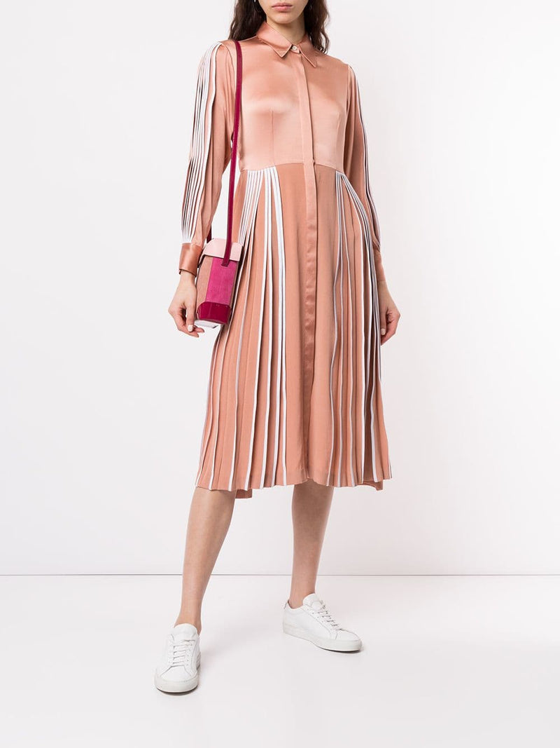 Bodice Pleated Shirtdress